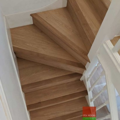 Stair Cladding - Classic look in London by Fin Wood #CraftedForLife