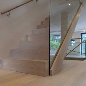 Stair Cladding - Modern look in London by Fin Wood #CraftedForLife #CraftedForLife