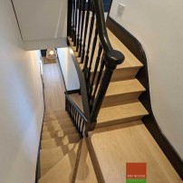 Stair Cladding - Classic look in London by Fin Wood #CraftedForLife #CraftedForLife