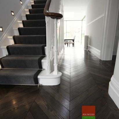 Chevron flooring London by Fin Wood Ltd #CraftedForLife #CraftedForLife