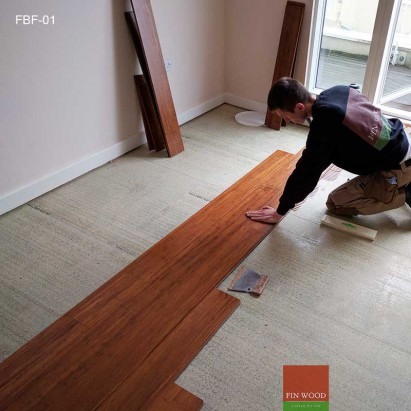 Fitting Bamboo Floors - Wide plank Bamboo flooring #CraftedForLife