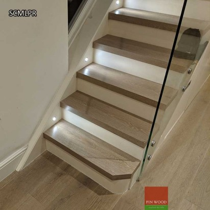 Stair Cladding - Modern look with painted risers #CraftedForLife