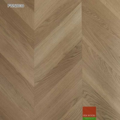Oak Chevron Premier Unsealed 500 x 100 x 20 mm