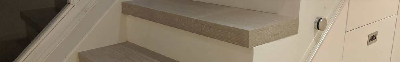 Stair cladding UK, wood covering for stairs