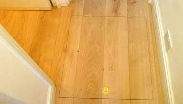 Access panels in wood flooring