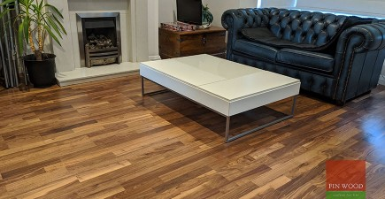 New Walnut Floor Replaces Water Damaged Laminate in Fulham, SW6