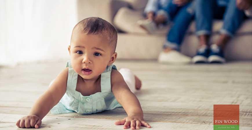Beautiful babies and beautiful wood floors