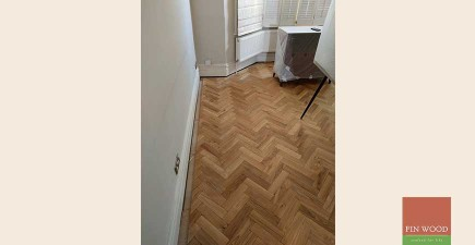 Aged Oak Herringbone Engineered Parquet in SW11 Wandsworth #CraftedForLife