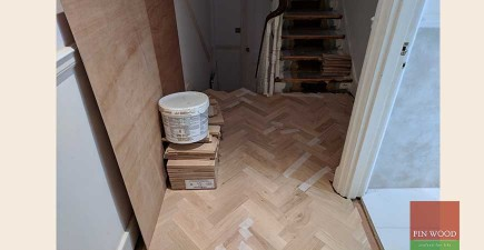 Hall revamped with parquet and Stair cladding #CraftedForLife