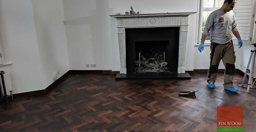 Our Restoration Work Improves a Rare Parquet Wooden Floor