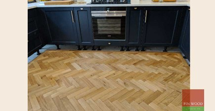 Curved Parquet Gives Kitchen Floor The Edge
