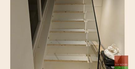 Modern Bespoke Staircase Clad in Engineered Oak #CraftedForLife