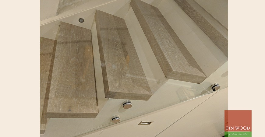 Modern Bespoke Staircase Clad in Engineered Oak #CraftedForLife