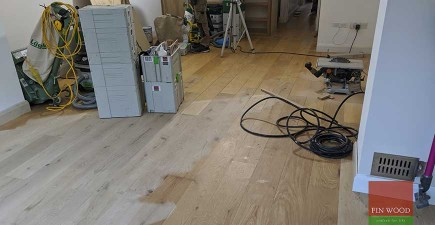 New engineered oak floor made to seamlessly match old refurbished boards #CraftedForLife