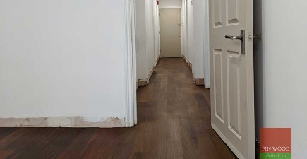 Rich, dark Brazillian Ipe Walnut wood in Kensington flat London SW5 #CraftedForLife