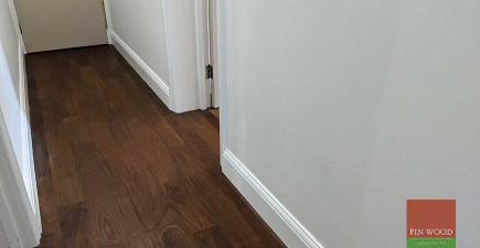 Rich, dark Brazillian Ipe Walnut wood in Kensington flat London SW5 #CraftedForLife