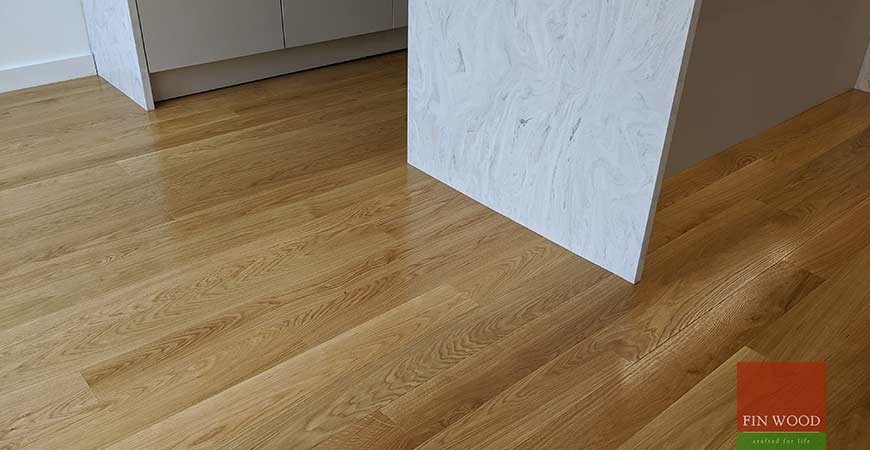 Premium quarter sawn oak replaces flood soaked tiles in large family home in Wimbledon village, SW19 #CraftedForLife