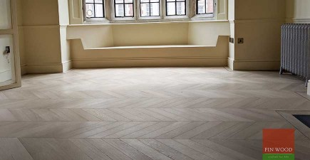 Timeless oak chevron adds classic style to luxury Mayfair mansion apartment, W1K #CraftedForLife