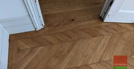Victorian terrace uplifted with wide engineered oak boards and a statement chevron parquet, Brockley SE14 #CraftedForLife