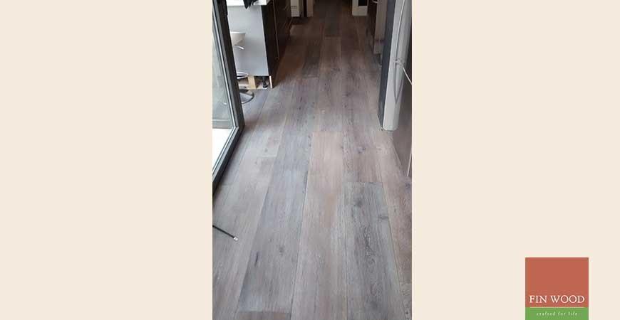 Wide Dark Oak Boards Engineered, Brushed, Hand scraped in West Norwood #CraftedForLife