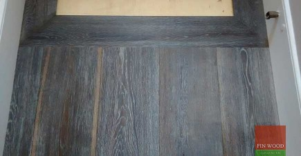 Wide Dark Oak Boards Engineered, Brushed, Hand scraped in West Norwood