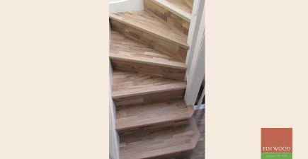 Wooden floors on stairs, Buckhurst Hill, Essex