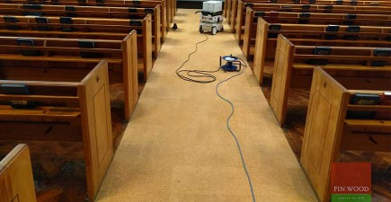 Cork Floor Restoration at Metropolitan Tabernacle, Elephant and Castle, London