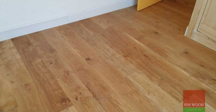 Wide Engineered Oak Flooring in Southwark Park, London