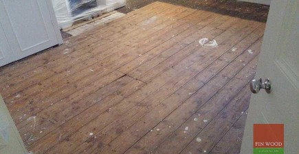 Original Pine Boards Restoration, Sanding & Painting, in Teddington, London