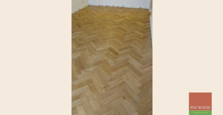 Oak Engineered Aged Parquet in Brixton, London
