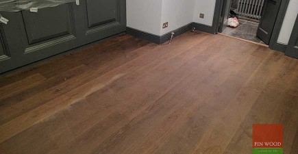 Baked Oak Engineered Boards Installation lacquer finished in SW18 Wandsworth, London #CraftedForLife
