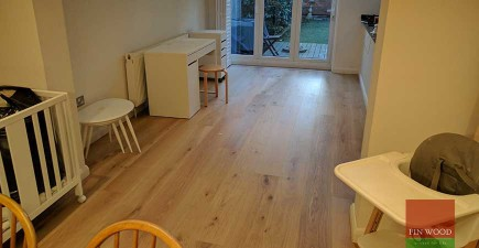 Grey-White Engineered Oak boards installation in TW9 Richmond #CraftedForLife