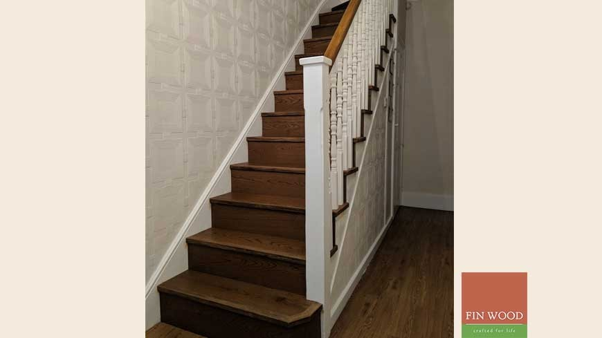 Stair cladding London by Fin Wood