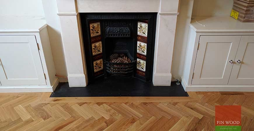 Flooring arround fireplace