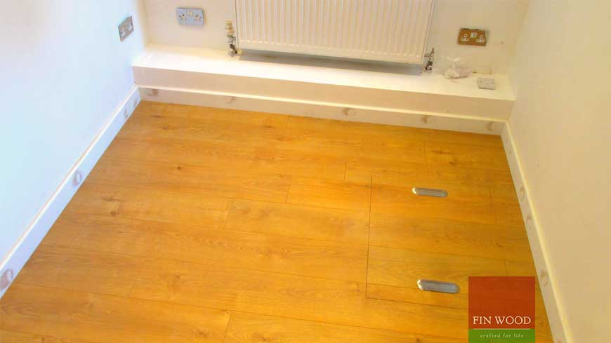 Access panel in wooden floors craftmanship 11