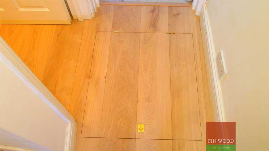 Access panel in wooden floors craftmanship 6