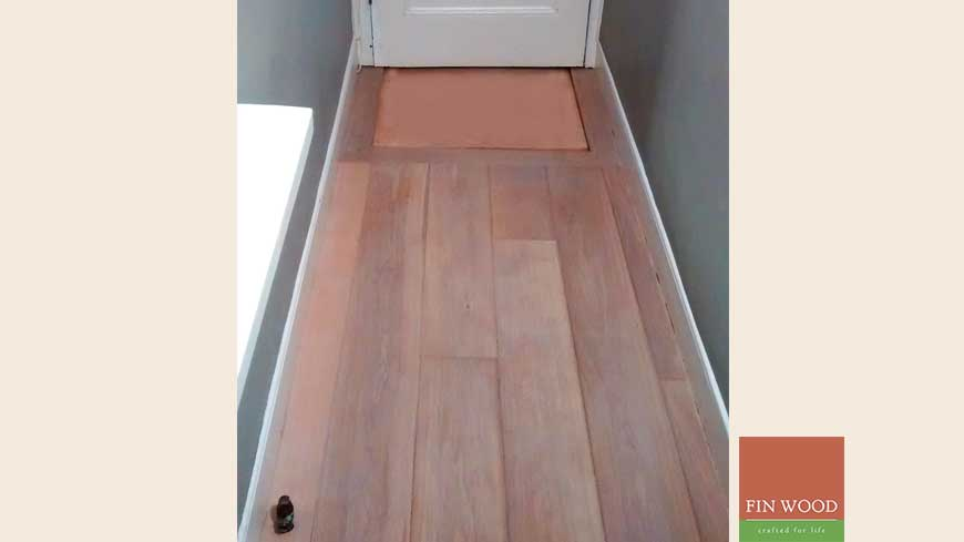 Integrated doormat in wooden flooring craftmanship 18